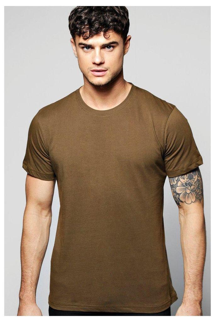 Crew Neck T Shirt - olive