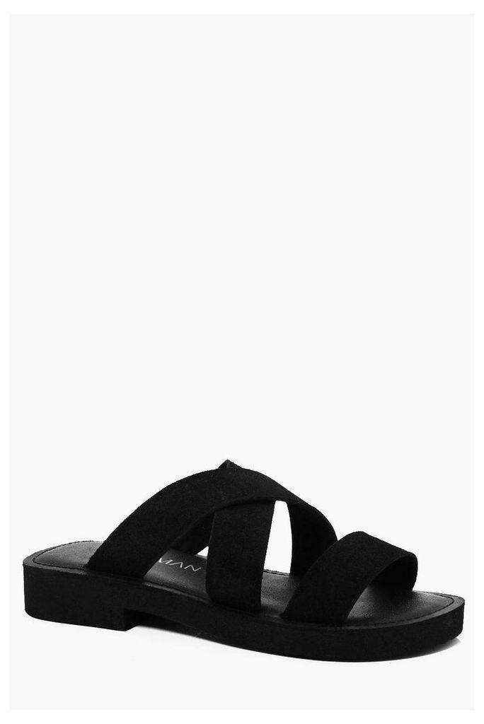 Suede Sandal - black