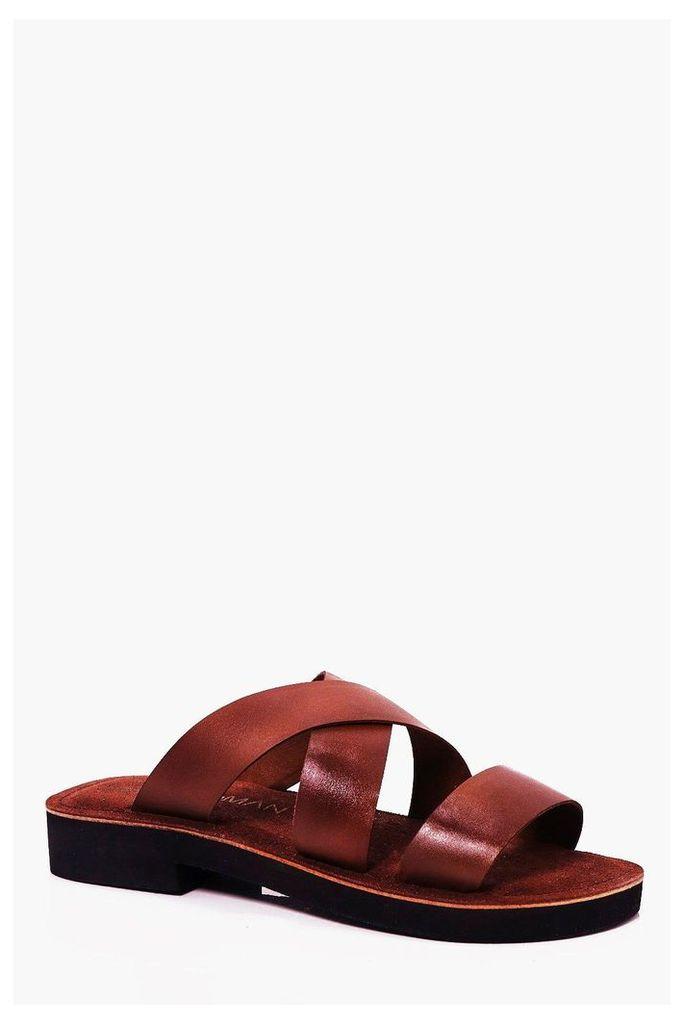 Leather Sandal - camel
