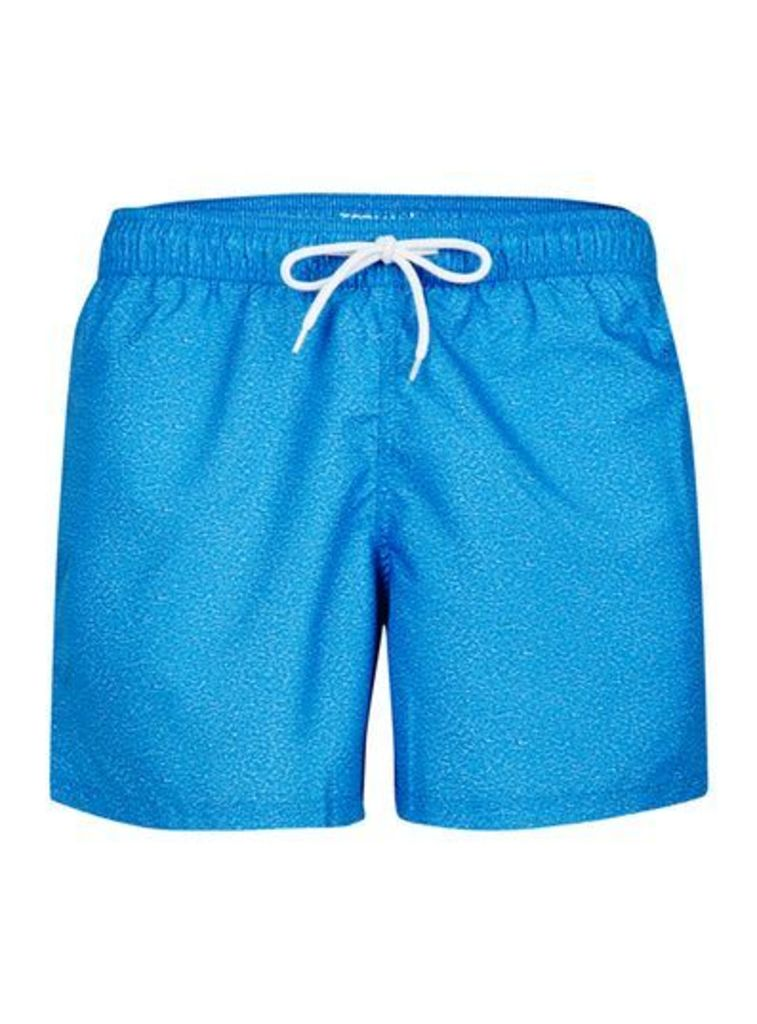 Mens Blue Marl Swim Shorts, Blue