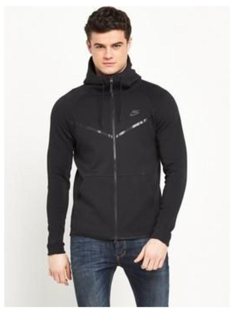 Nike Tech Fleece Windrunner Hoodie, Black, Size Xl, Men