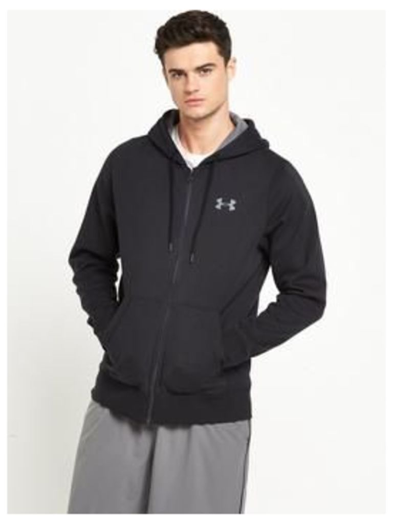 UNDER ARMOUR Under Armour Storm Rival Cotton Full Zip Hoody, Black, Size S, Men