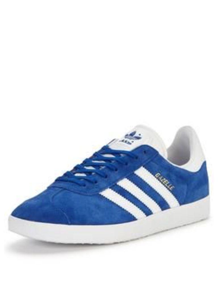 adidas Originals Gazelle, Blue/White, Size 6, Men