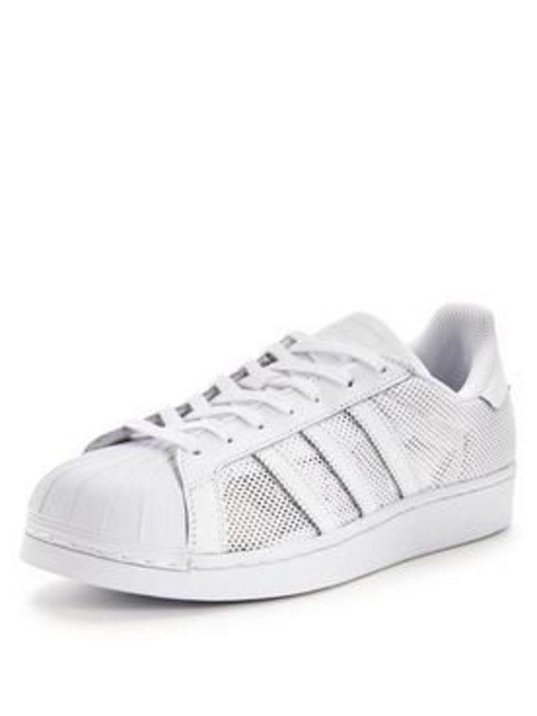 adidas Originals Superstar, White, Size 10, Men