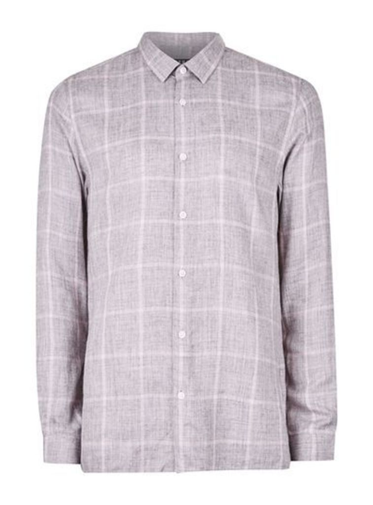 Mens Frost Pink Check Slim Fit Smart Shirt, Pink