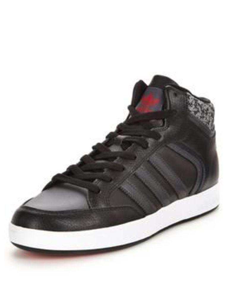 adidas Originals Varial Mid, Black/Grey/White, Size 7, Men