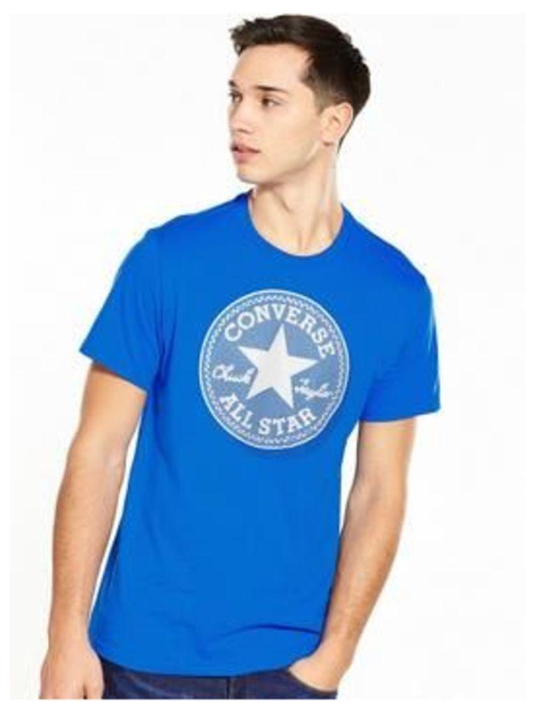 Converse Microdots T-Shirt, Blue, Size M, Men