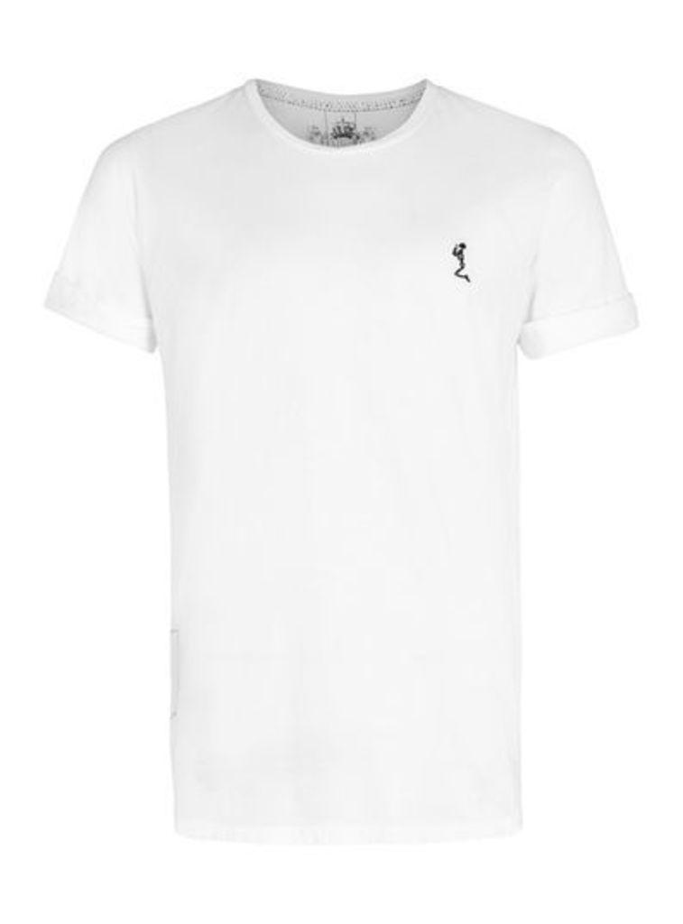Mens RELIGION White Longline T-Shirt, White