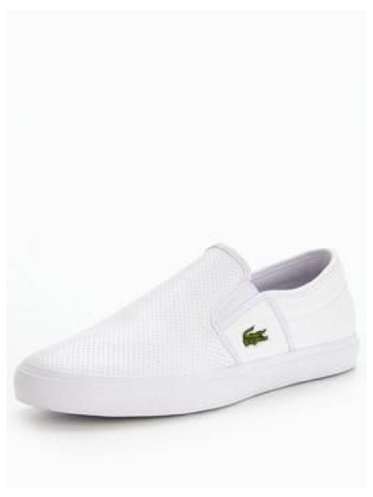 Lacoste Gazon Bl 1 Slip On - White, White, Size 8, Men