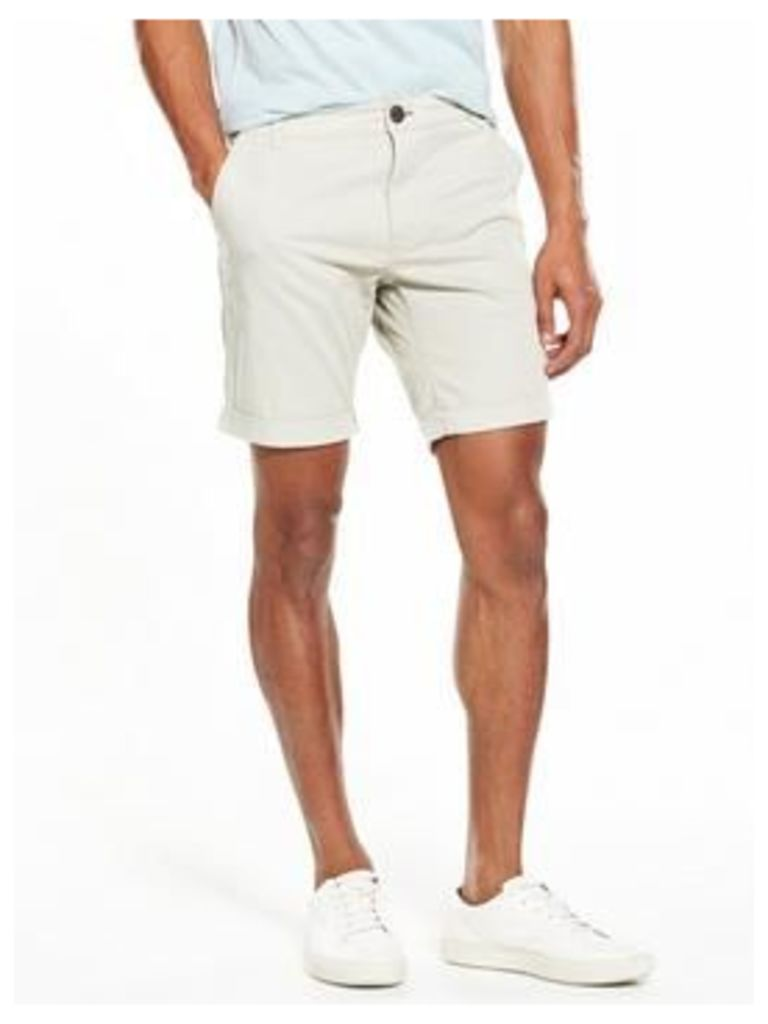 Selected Homme Chino Shorts, Moonstruck, Size S, Men