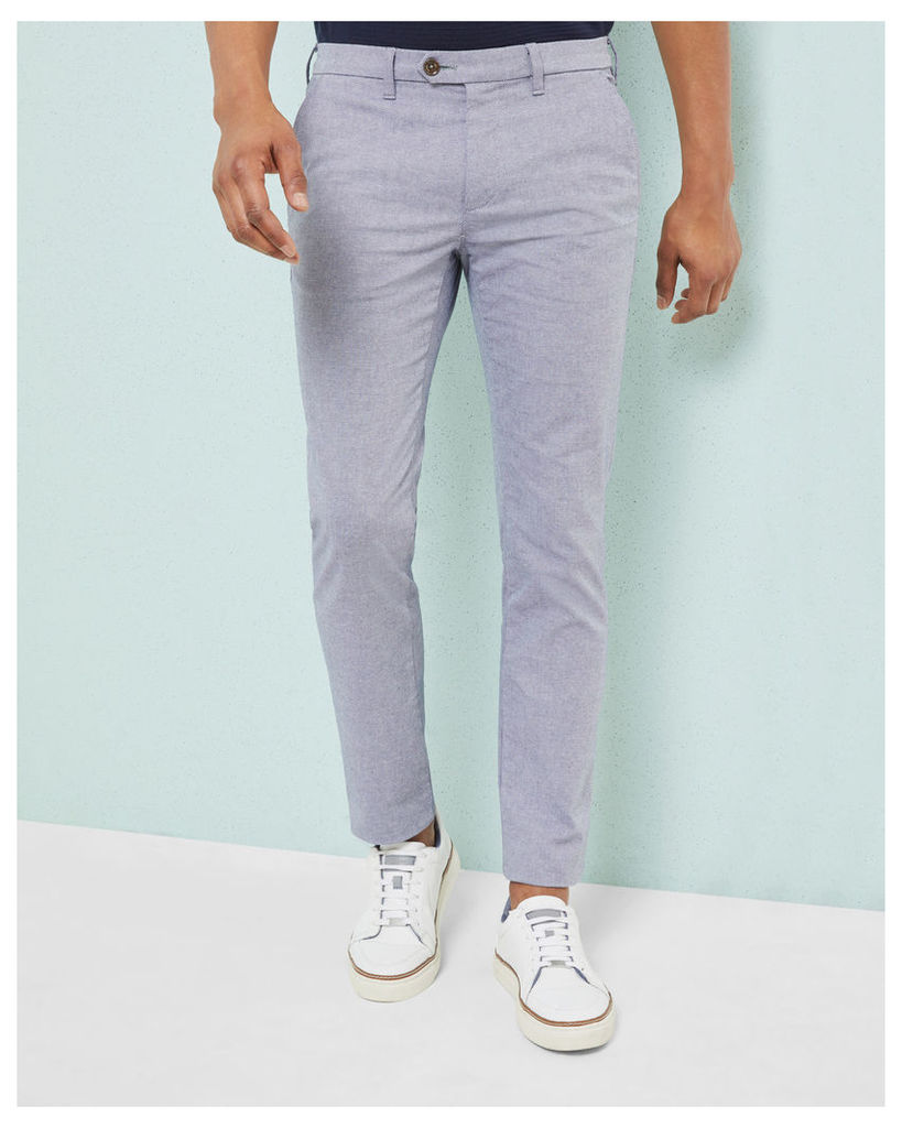 Ted Baker Slim fit textured chinos Navy