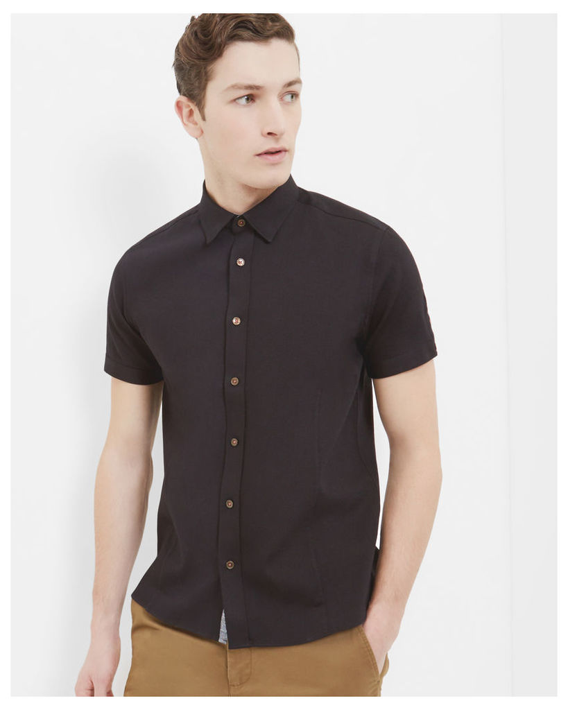 Ted Baker Modern fit Oxford shirt Black