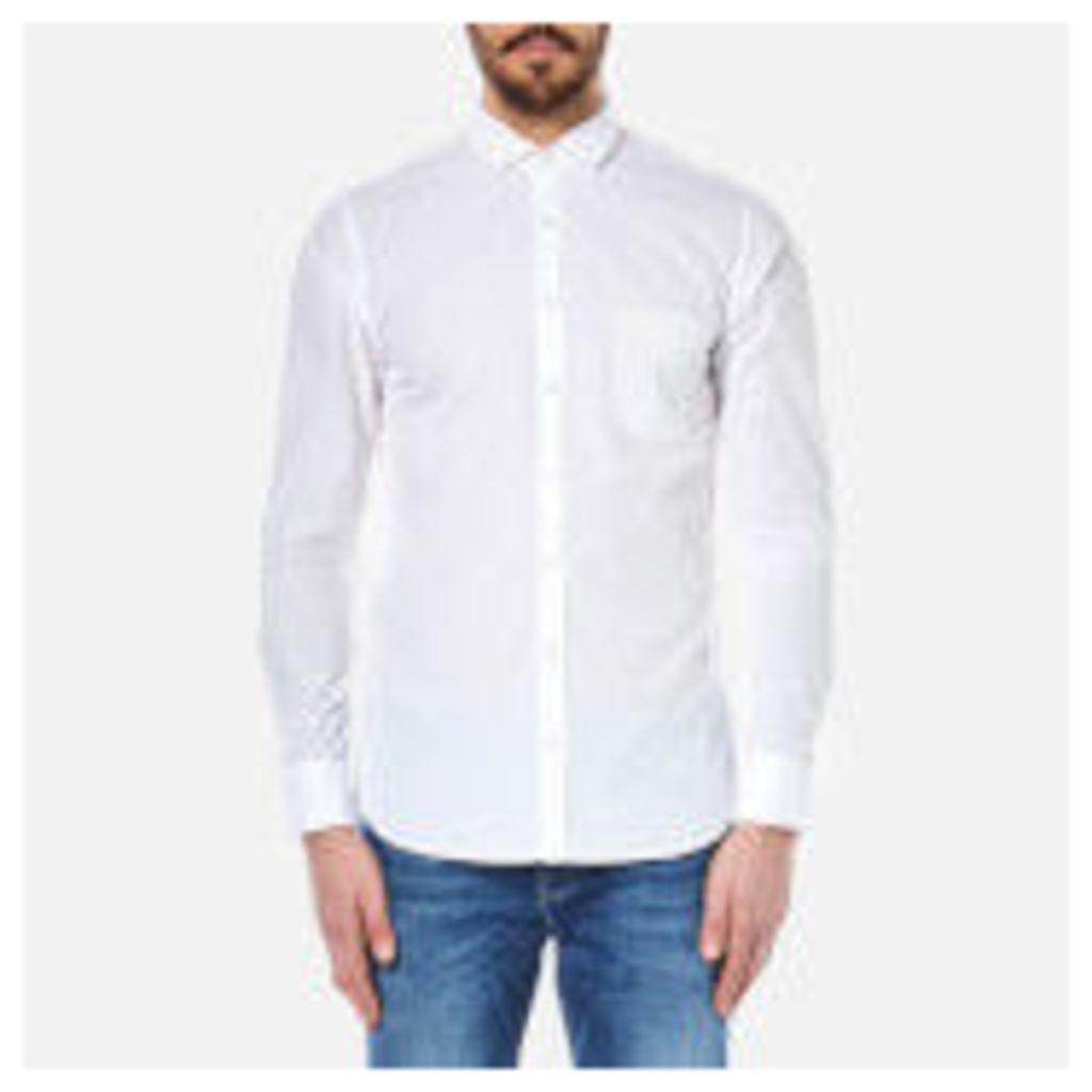 BOSS Orange Men's Cattitude Plain Shirt - White