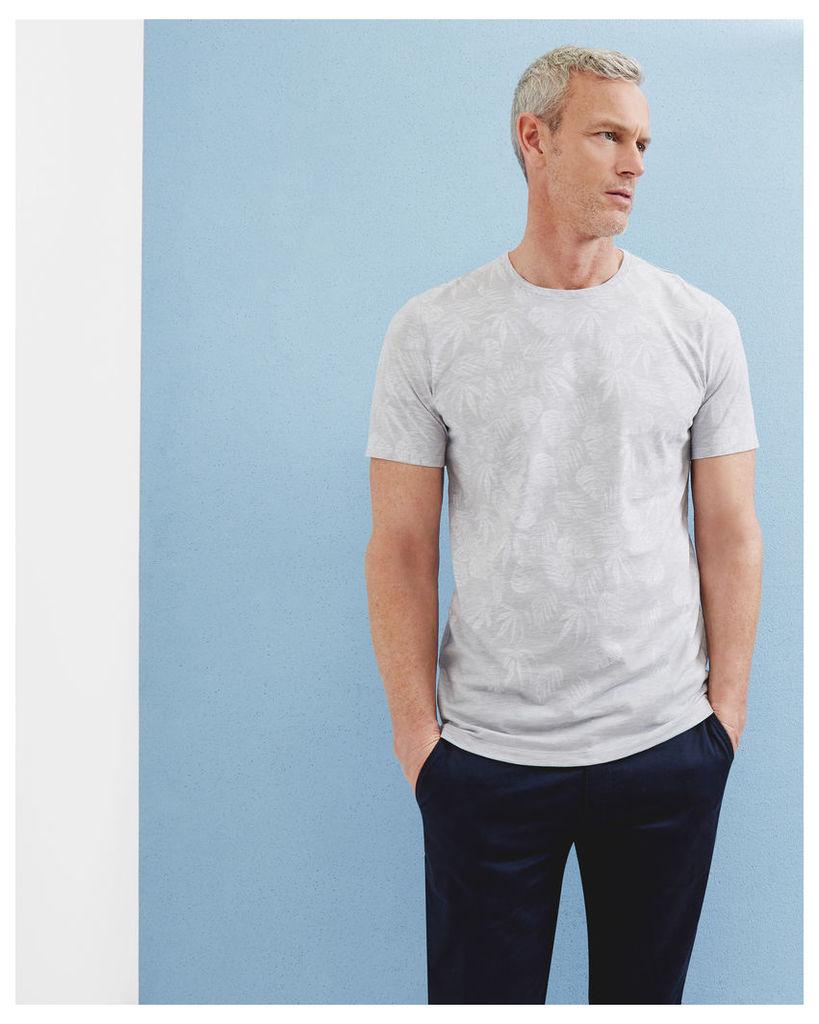 Ted Baker Graphic leaf print T-shirt Light Grey
