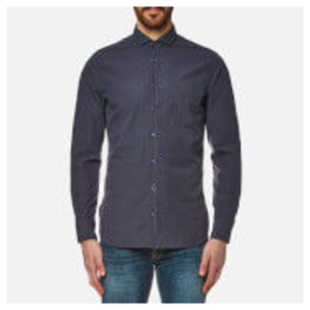 BOSS Orange Men's Cattitude Plain Shirt - Dark Blue - M