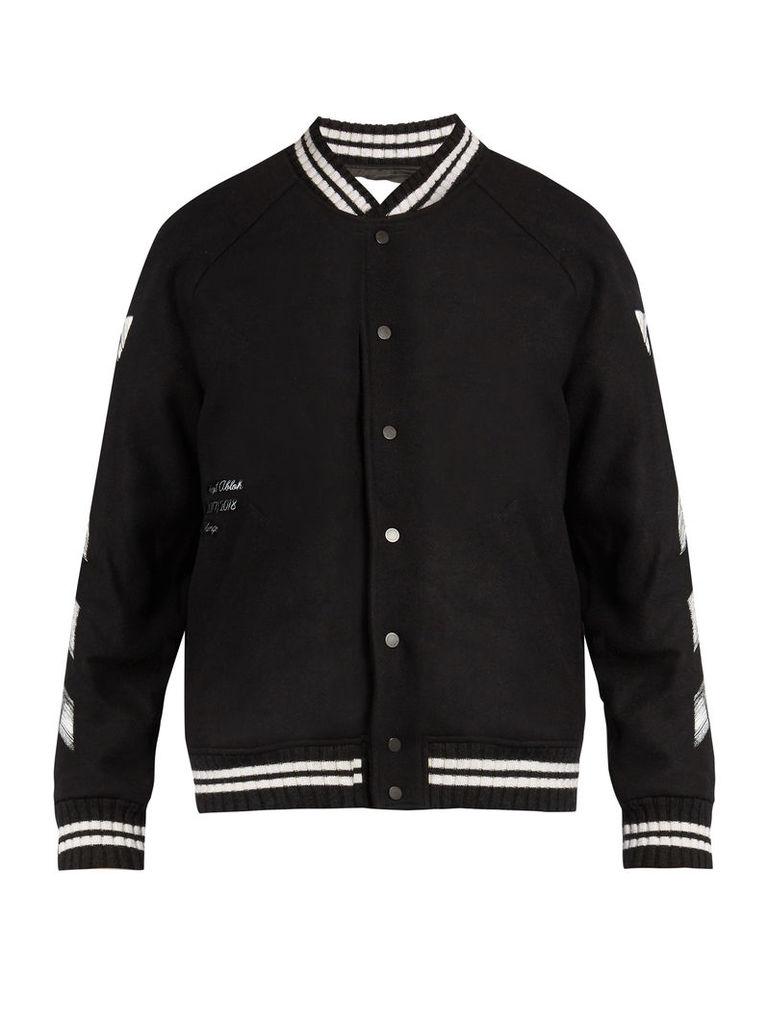 Logo-print bomber jacket