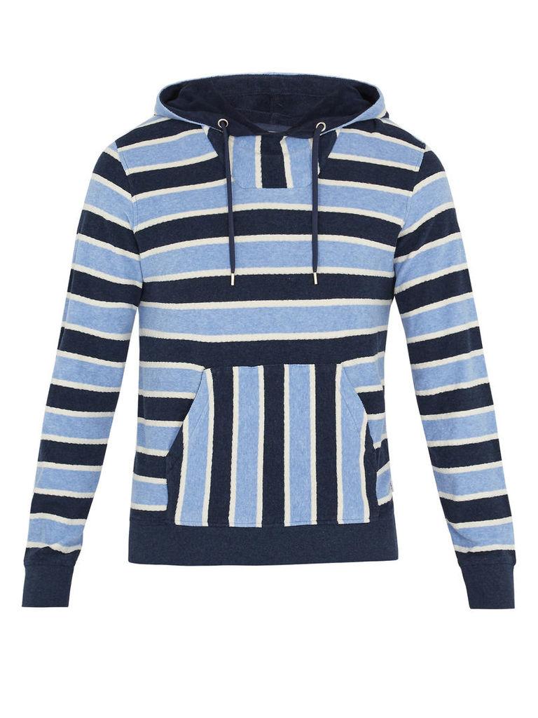 Karson hooded striped cotton sweatshirt