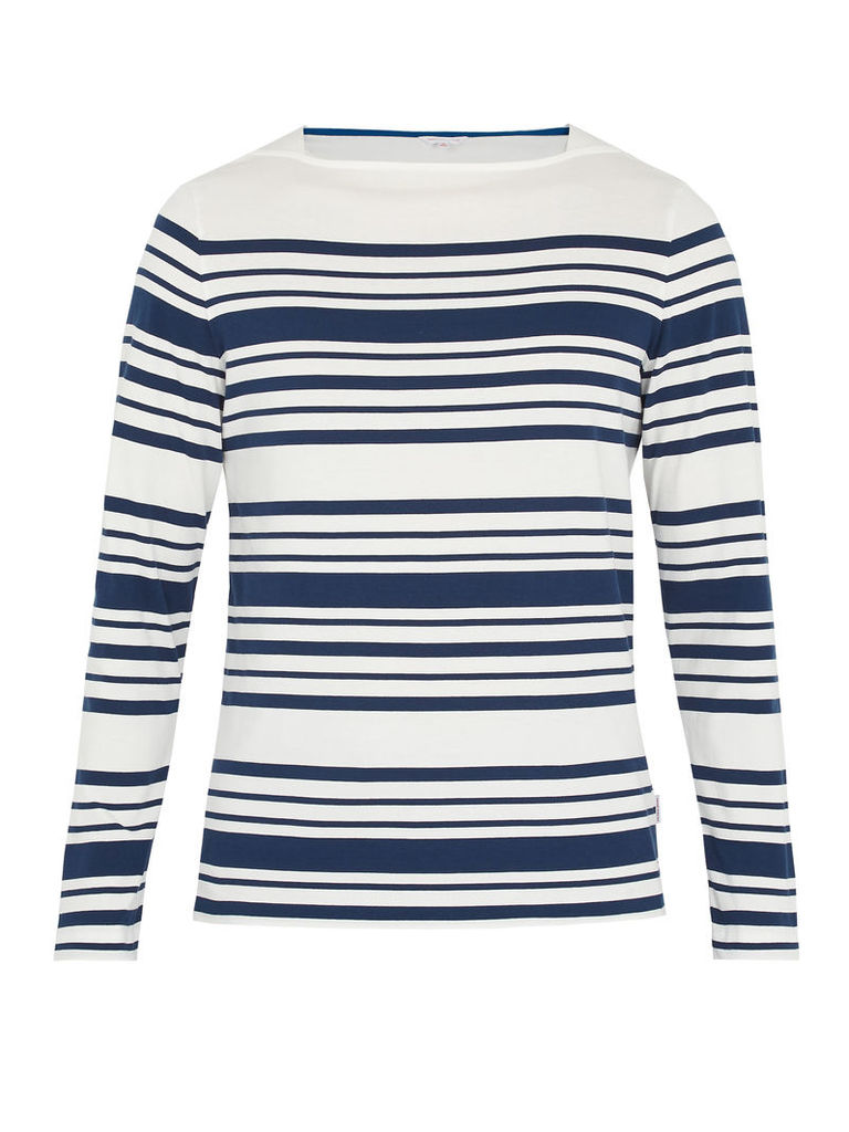 Byrne long-sleeved striped cotton T-shirt