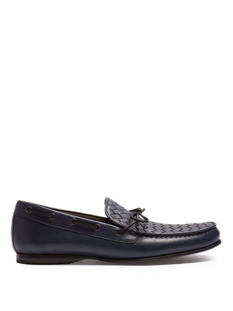 Wave intrecciato leather loafers