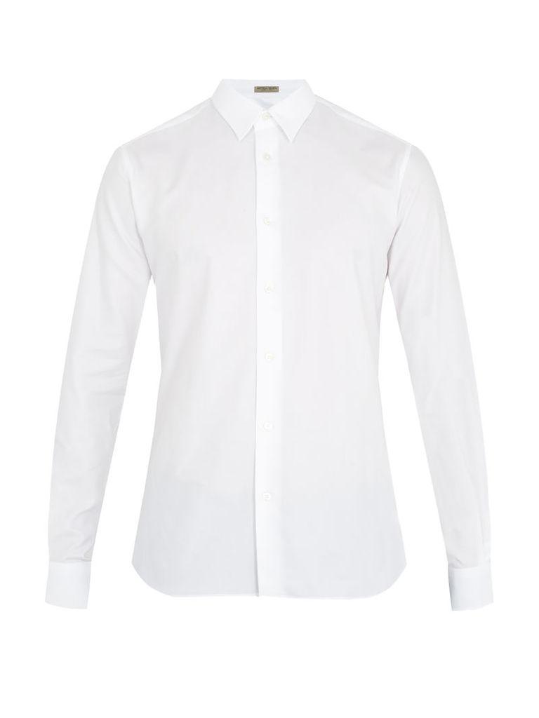Single-cuff cotton-oxford shirt