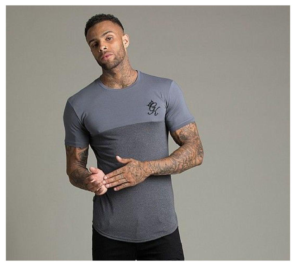 Chest Panel Longline T-Shirt