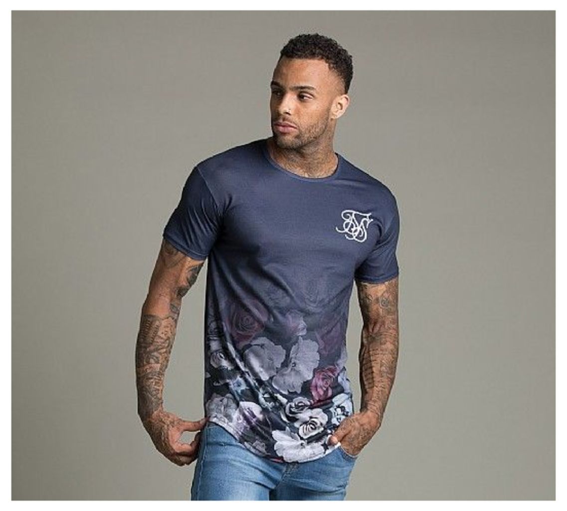 Nautic Floral Curved Hem T-Shirt