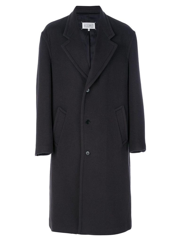 Maison Margiela - oversize single breasted coat - men - Cotton/Polyamide/Viscose/Wool - 50, Brown