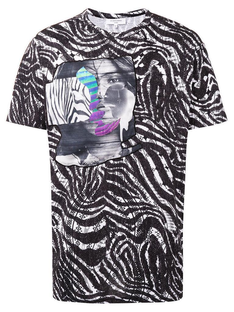 Les Benjamins - printed T-shirt - men - Cotton - S, Black