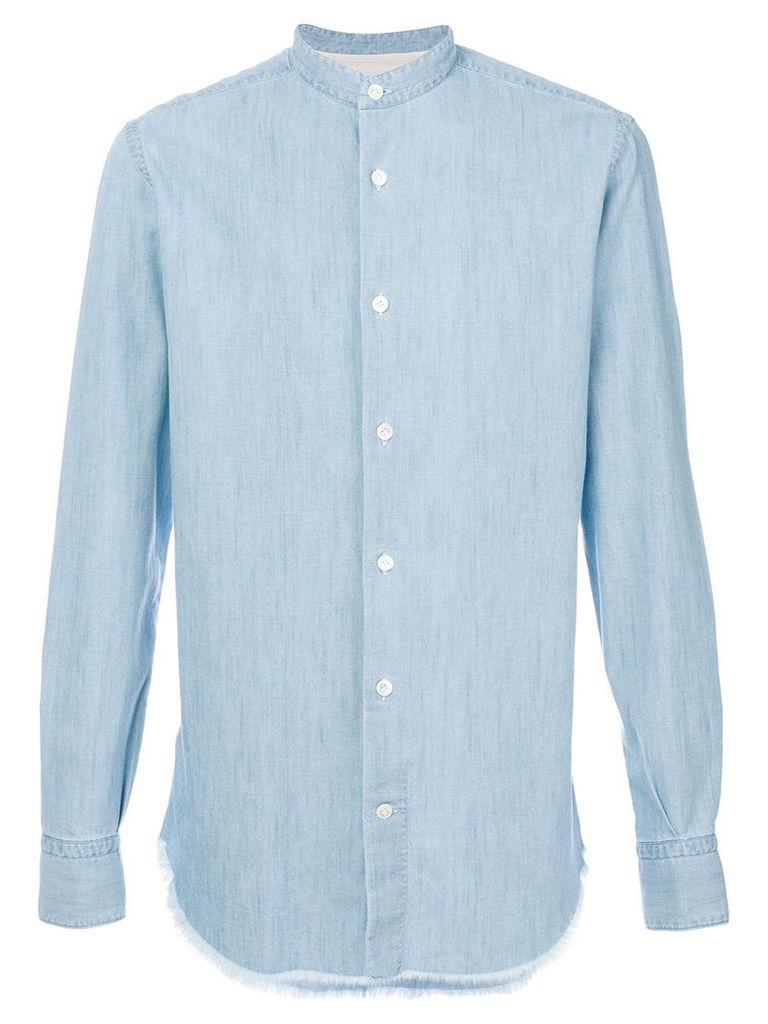 Eleventy - classic long sleeve shirt - men - Cotton - 43, Blue