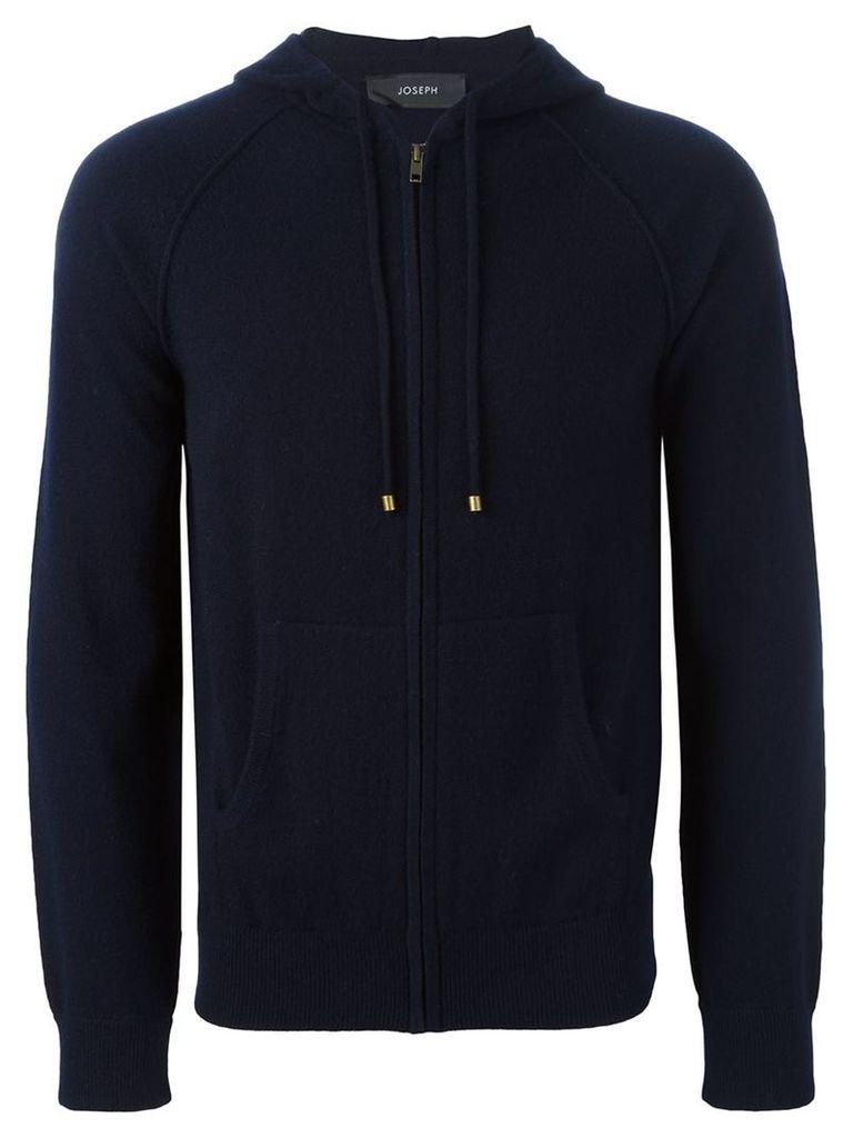 Joseph - cashmere zip up hoodie - men - Cashmere - M, Blue