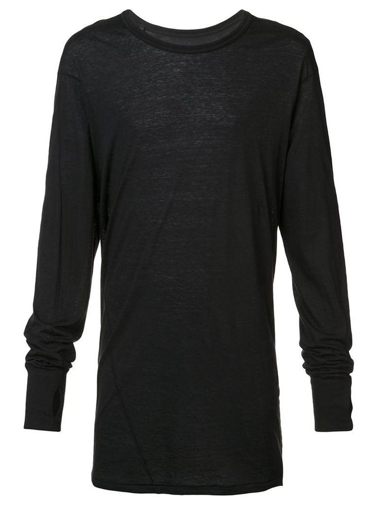 11 By Boris Bidjan Saberi - long sleeve T-shirt - men - Cotton/Cashmere - S, Black