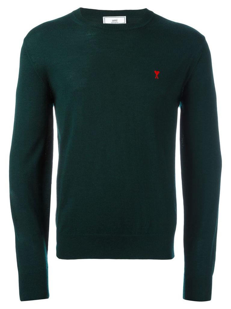 Ami Alexandre Mattiussi - Ami de caur sweater - men - Merino - S, Green