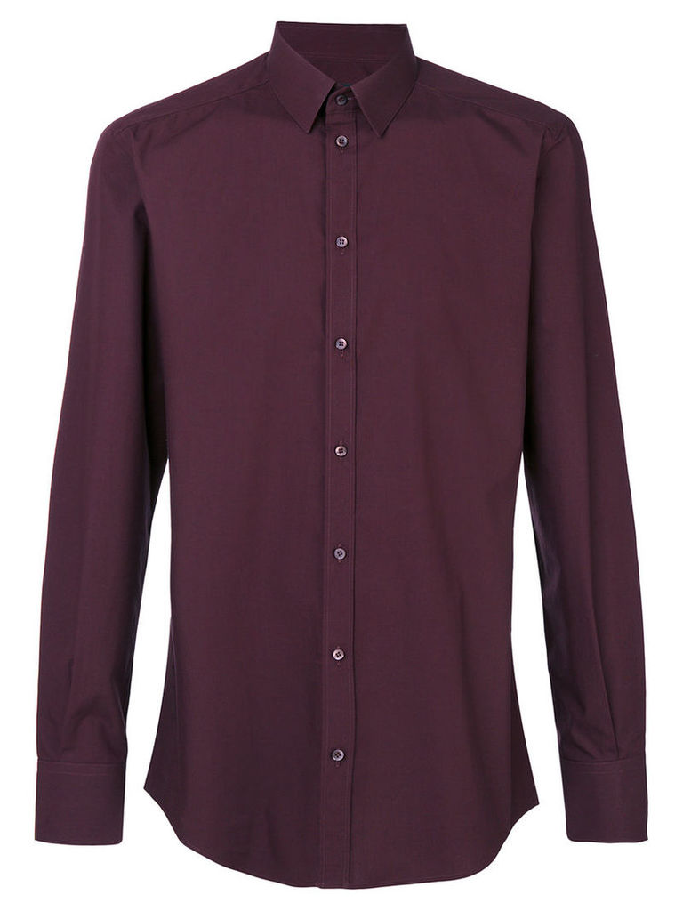 Dolce & Gabbana - classic poplin shirt - men - Cotton - 39, Pink/Purple