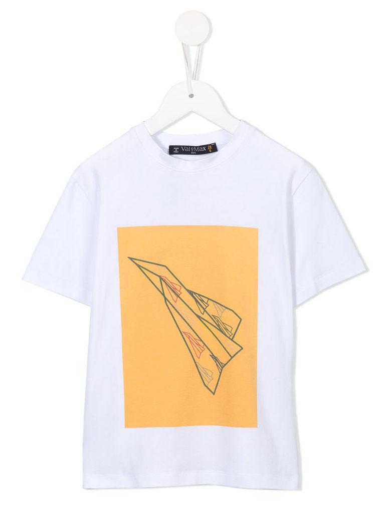 Valmax Kids - printed T-shirt - kids - Cotton/Elastodiene - 4 yrs, White