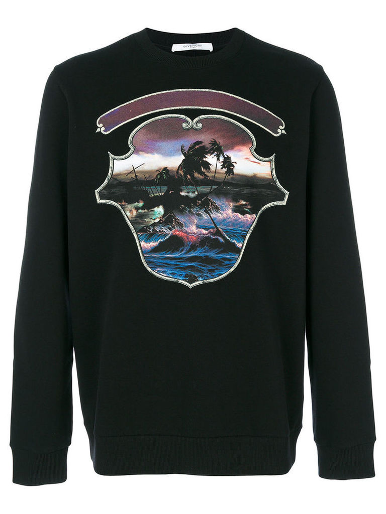 Givenchy - Hawai Crest print sweatshirt - men - Cotton - S, Black