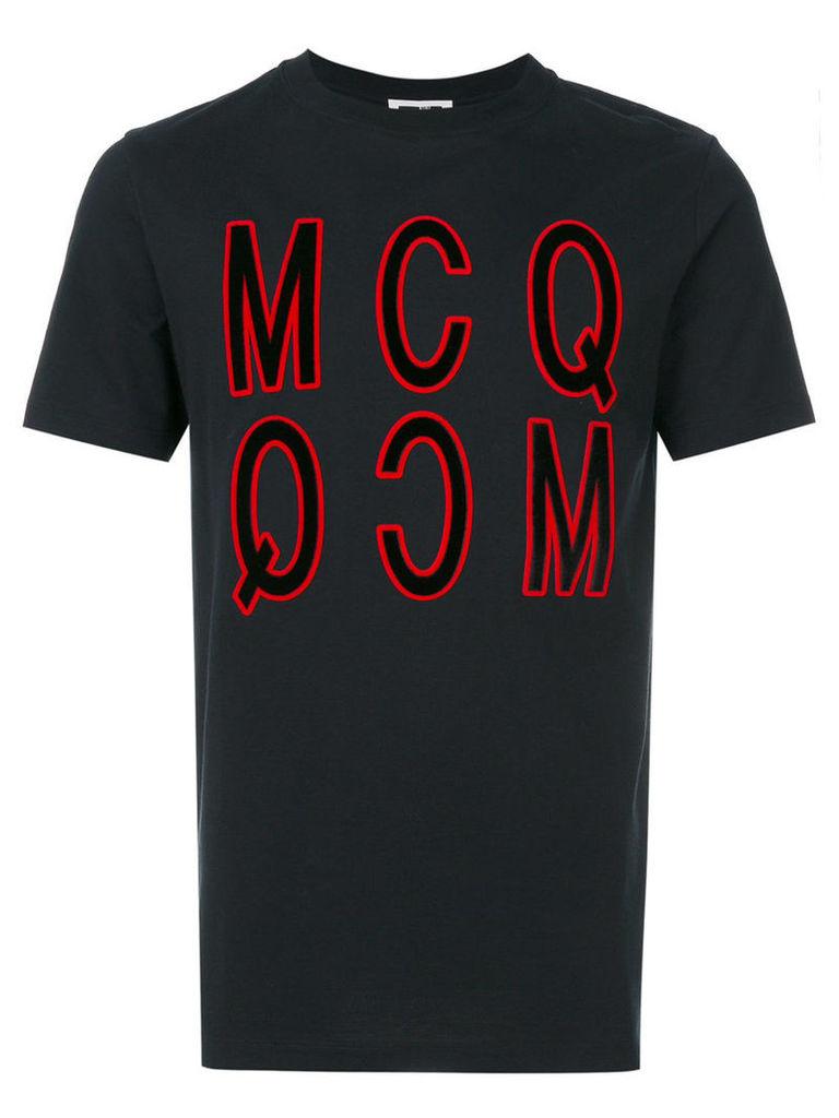 McQ Alexander McQueen - logo patch T-shirt - men - Cotton - M, Black