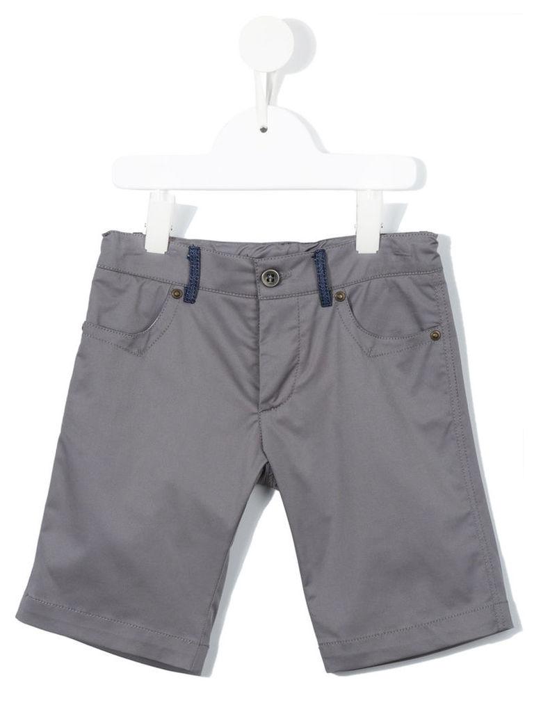 Valmax Kids - fitted denim shorts - kids - Cotton/Elastodiene - 4 yrs, Grey
