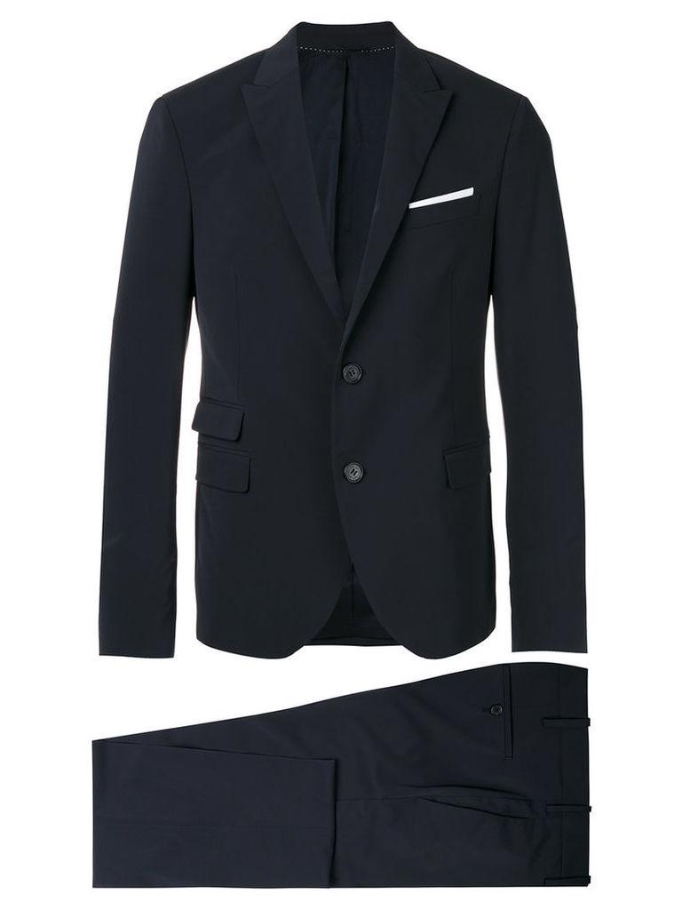 Neil Barrett - two-piece suit - men - Cotton/Polyester/Viscose - 52, Blue