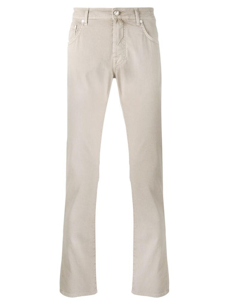 Jacob Cohen - slim-fit jeans - men - Cotton/Spandex/Elastane - 33, Nude/Neutrals