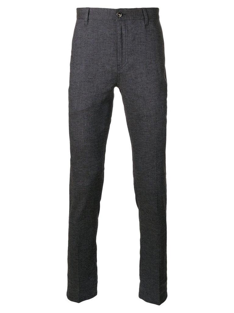 John Varvatos - tailored trousers - men - Linen/Flax/Spandex/Elastane/Viscose - 36, Blue
