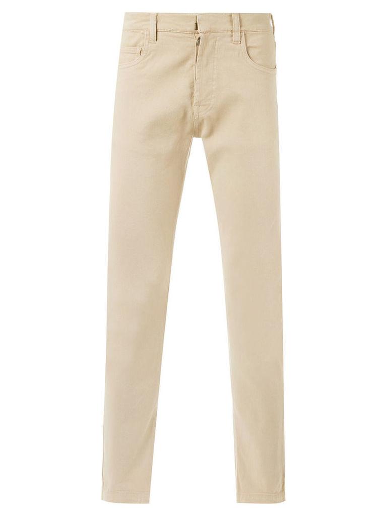 Egrey - straight trousers - men - Cotton - 42, Beige