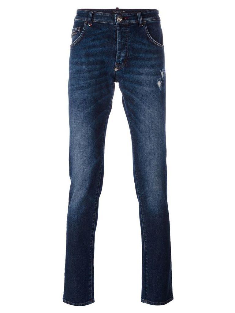 Philipp Plein - straight-leg jeans - men - Cotton/Polyester/Spandex/Elastane - 38, Blue