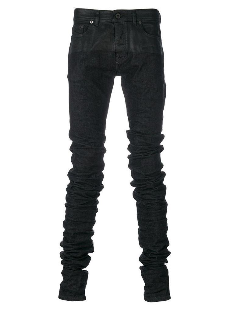 Diesel - gathered skinny jeans - men - Cotton/Polyester/Spandex/Elastane - 32, Black