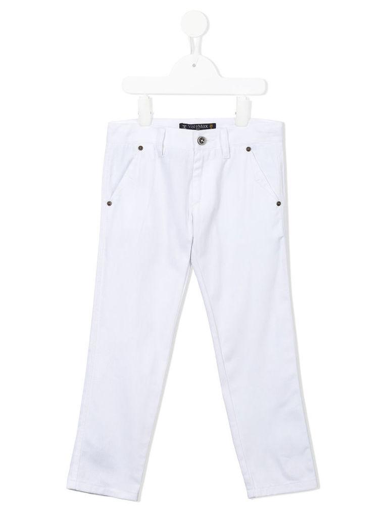 Valmax Kids - classic chino trousers - kids - Cotton - 6 yrs, White
