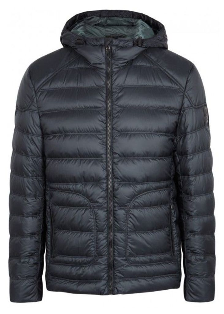 Belstaff Fullerton Navy Quilted Shell Jacket - Size 40