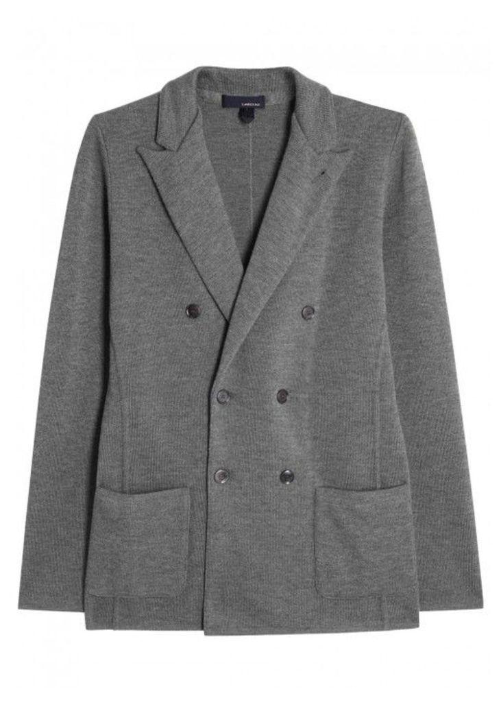 LARDINI Grey Wool Jacket - Size L