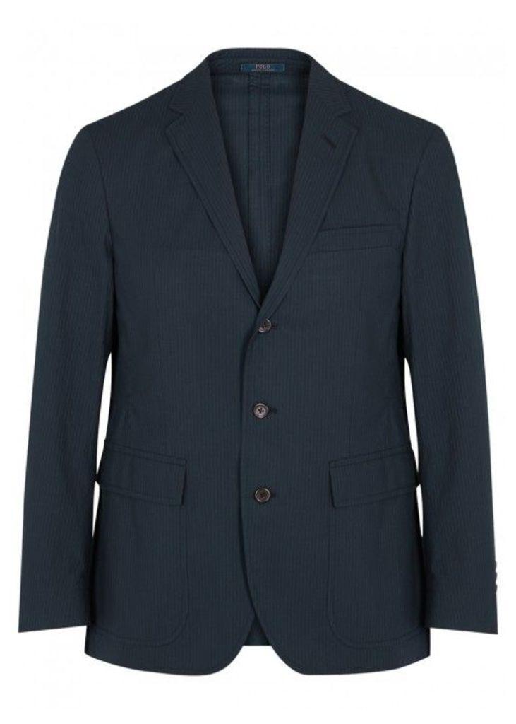 Polo Ralph Lauren Navy Striped Stretch Cotton Blazer - Size 42