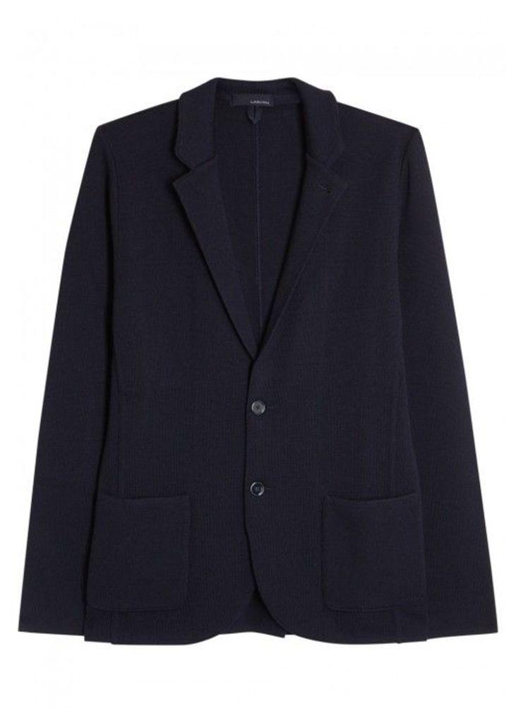LARDINI Navy Wool Jacket - Size L