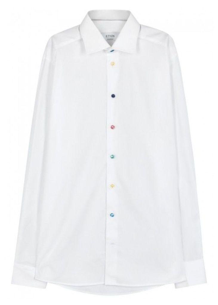 Eton White Contemporary Cotton Shirt - Size 16