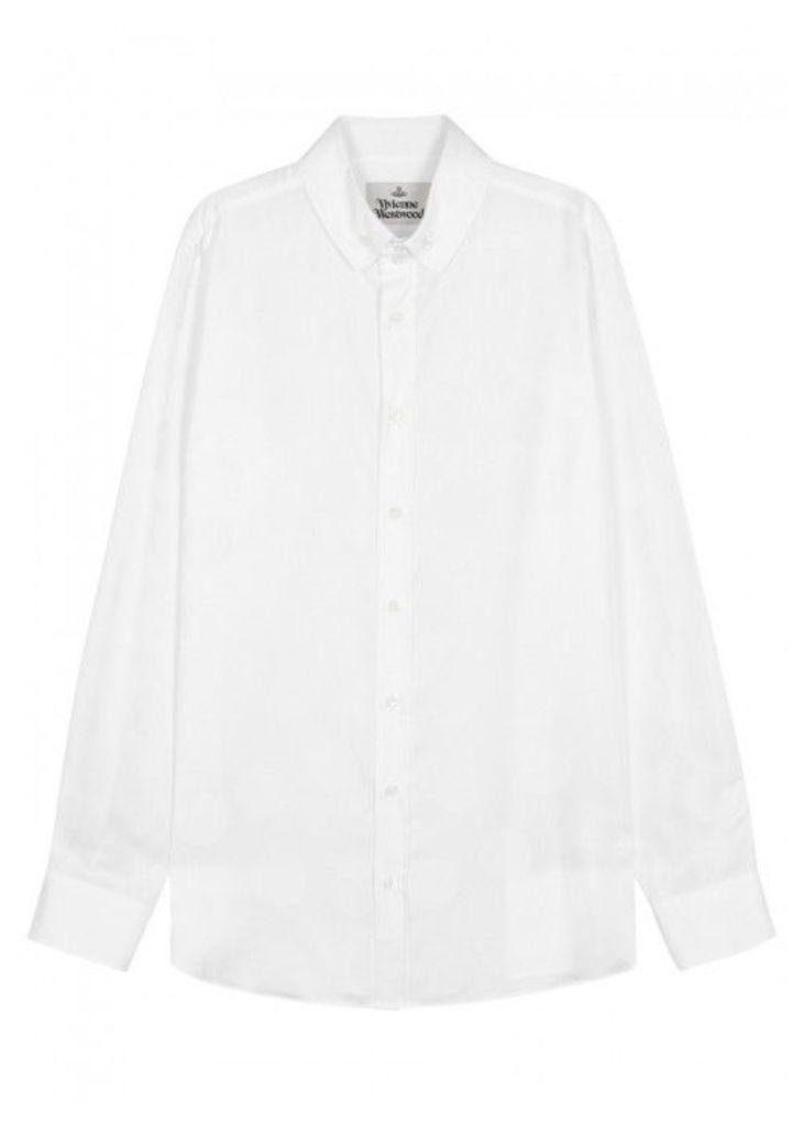 Vivienne Westwood White Jacquard Cotton Shirt - Size 40